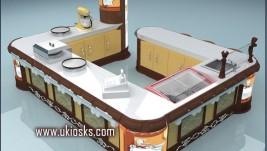 waffle kiosk for bakery