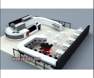 customized snack kiosk | fast food kiosk design in mall for sale