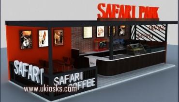 wooden mall food kiosk | new coffee kiosk design for you