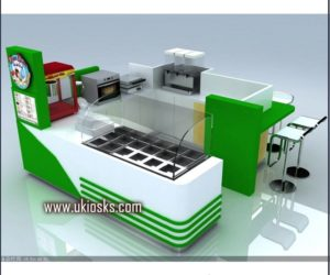 Snack kiosk | fast food  kiosk design in mall for sale