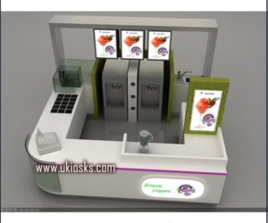 Customized ice cream kiosk design in mall for sale