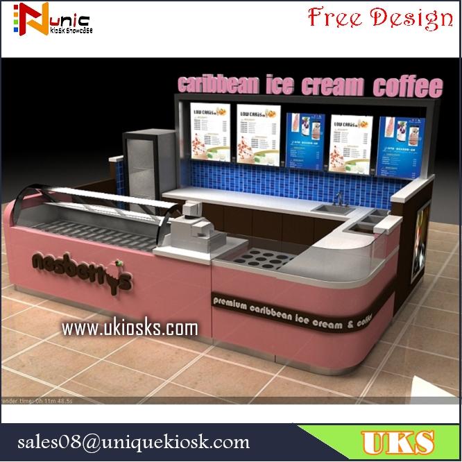 ice cream kiosk & yogurt kiosk