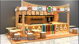 Customized made in snack    fast food kiosk for shopping mall