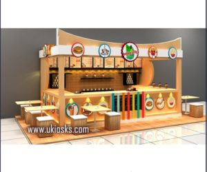 Customized made in snack  | fast food kiosk for shopping mall