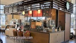 Starbucks coffee kiosk design in mall for sale