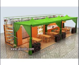 customized outdoor fast food kiosk design for sale