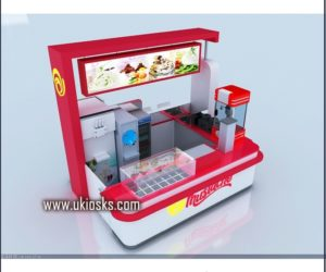 mall kiosk with wooden cabinet ice cream kiosk for sale