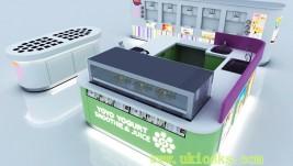 customized frozen yogurt shop design