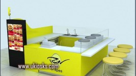 3m by 3m with four seats crepe kiosk for sale
