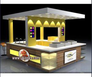 hot sale mall kiosk customized crepe kiosk with bar counter