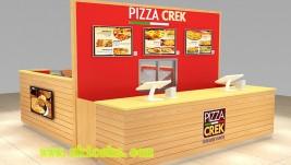 customized 12 by 14 feet pizza kiosk  fast food kiosk for shopping mall