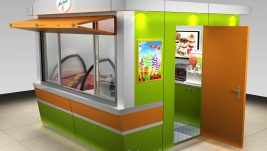 high quality outdoor food kiosk   ice cream kiosk design for sale