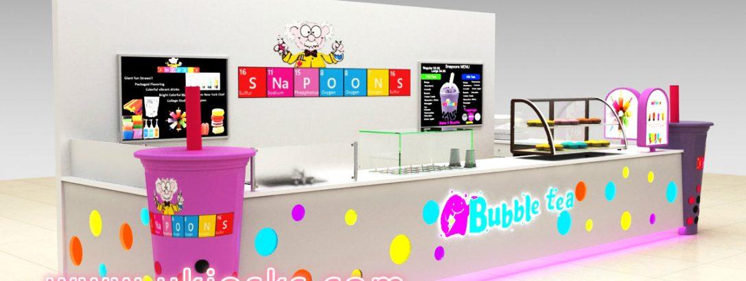 100 +cheap mall bubble tea kiosk for sale