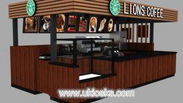 high quality coffee kiosk design for sale