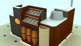 customized nut kiosk design in mall for sale