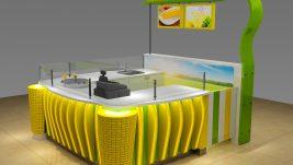 high quality mini popcorn kiosk   corn kiosk in mall for sale