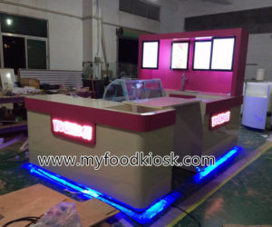 YOMOG ice cream kiosk design for shopping mall