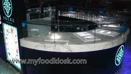Sucre  ice cream kiosk display cabinet for food shop on sale