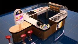 high quality customized ice cream kiosk design