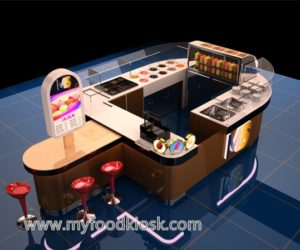 high quality customized ice cream kiosk design
