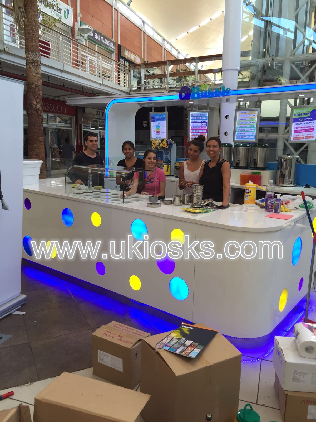 bubble tea kiosk & some successful Works for share