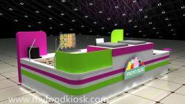 Newest mall food frozen yogurt kiosk design for sale