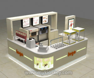 Frozen yogurt kiosk design for sale