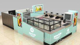 high quality juice kiosk design for shopping mall