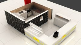 5m by 3m crepe kiosk design in mall for sale