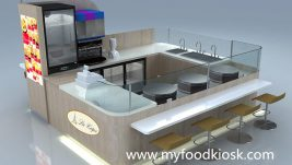 High end crepe kiosk design in mall for sale