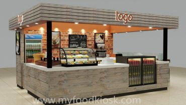 high end beauty coffee kiosk in mall for sale