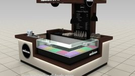 high end 3d max design for ice cream kiosk in mall