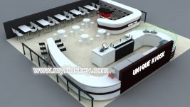 High end customize coffee kiosk shop design in mall for sale