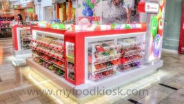 hot selling sweet candy kiosk design for shopping mall