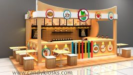 high end fast food kiosk design in mall for sale