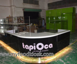 Tapi orca style customized mall food juice kiosk design in mall