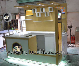 Hot selling customized juice kiosk design for shopping mall
