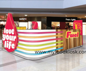 customized Fuel juice bar kiosk design for sale