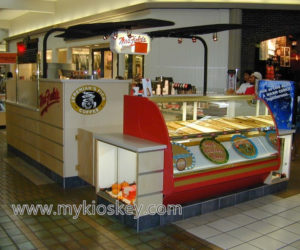 Most popular 4m by 3m fast food kiosk design in mall