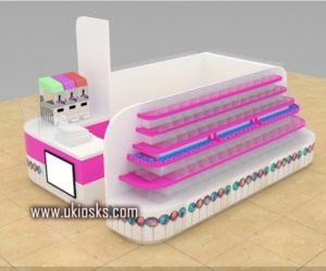 customized high quality candy kiosk for sale