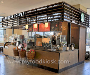 Starbucks coffee kiosk design in mall for sale