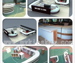 high end customized coffee kiosk shop design
