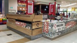 Binglicious customized mall fast food kiosk design for sale