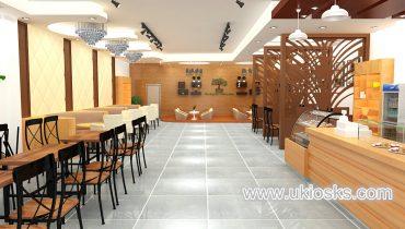 hot selling new design fast food kiosk shop for sale