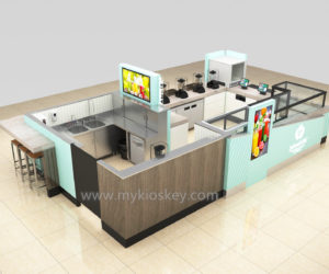 High end Multifunction juice kiosk design in mall for sale
