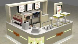 Most popular frozen yogurt kiosk design in mall for sale