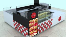 Newest design crepe kiosk in mall for sale