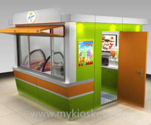 1000+ high end ice cream kiosk for outdoor used
