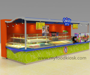 Quickly  juice kiosk design for shopping mall