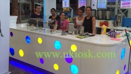 Most popular beauty mall bubble tea kiosk for sale